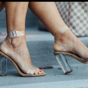 Madden Girl clear block heels